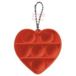 Antistresinis terapinis žaislas POP IT Orange Heart