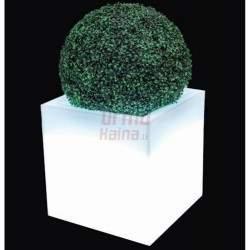 Šviečiantis vazonas Monumo Pixel Pot, baltas