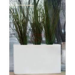 Šviečiantis vazonas Monumo Lungo Maxi, baltas