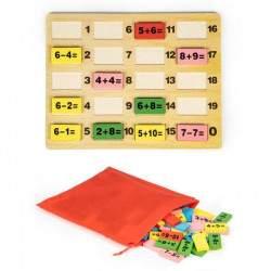 Medinių kaladėlių rinkinys Matematika