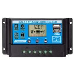 Įtampos reguliatorius fotoelektrinėms plokštėms VOLT 12V / 24V 20A LCD