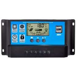 Įtampos reguliatorius fotoelektrinėms plokštėms VOLT 12V / 24V 40A LCD