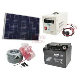 Saulės elektrinės rinkinys VOLT 150W 40Ah 12V