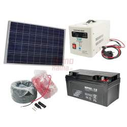 Saulės elektrinės rinkinys VOLT 150W 65Ah 12V