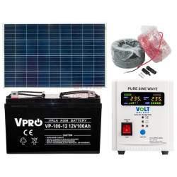 Saulės elektrinės rinkinys VOLT 150W 100Ah 12V 800S
