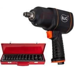 """Pneumatinis smūginis veržliasukis su galvutėmis BJC 1/2"""" 1550 Nm"""