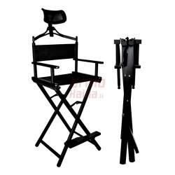 Sulankstoma makiažo kėdė su galvos atrama MK3 Aliuminė
