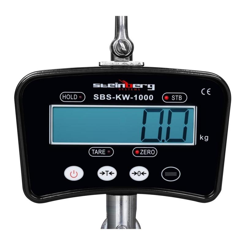 Kraninės svarstyklės Steinberg Systems 1000 kg LCD