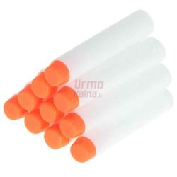 Fluorescencinės kulkos žaisliniams šautuvams 10 vnt. 7 cm
