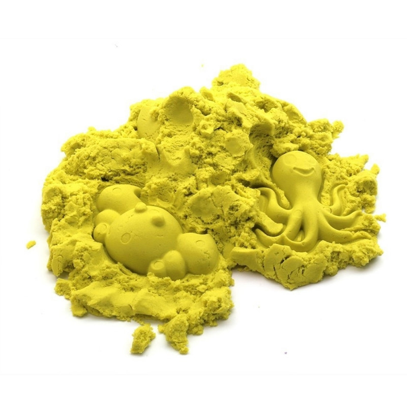 Kinetinis smėlis - geltonas