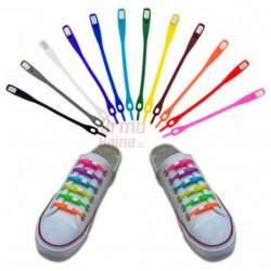 Silikoniniai batų raišteliai pilki