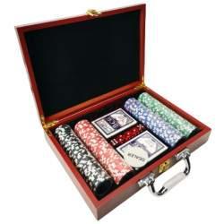 Pokerio rinkinys lagaminėlyje 200 žetonų