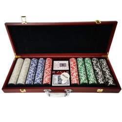 Pokerio rinkinys lagaminėlyje 500 žetonų