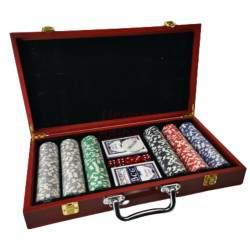 Pokerio rinkinys lagaminėlyje 300 žetonų