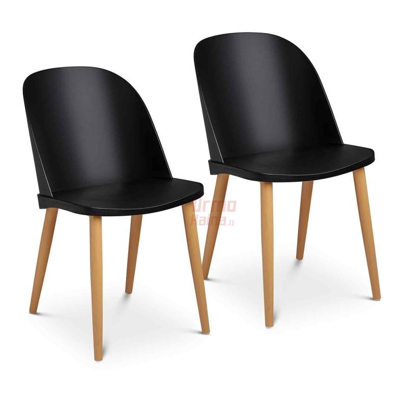 Kėdės 43,5x43 cm - juodos - STAR_SEAT_11