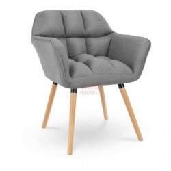 Paminkštintas krėslas 40x38,5 cm - pilkas - STAR_CON_102