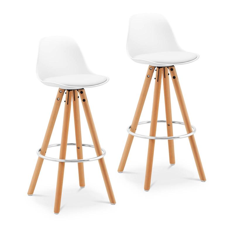 Baro kėdžių komplektas - baltos, 2 vnt. STAR_SEAT_01