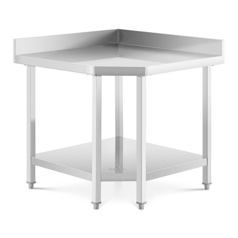 Nerūdijančio plieno kampinis stalas 90x70 cm RCCWT-90X70-S
