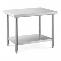 Nerūdijančio plieno darbo stalas 100x70 cm RCWT-100X70S