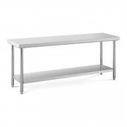 Nerūdijančio plieno darbo stalas 200x60 cm RCWT-200X60S