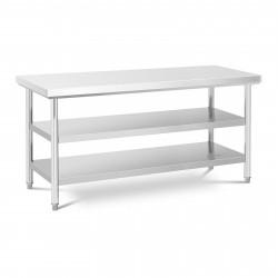 Nerūdijančio plieno darbo stalas 180x60 cm RCWT-180X60-3L-E