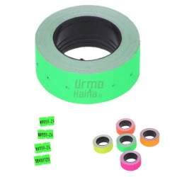 Etiketės vienos eilutės markiratoriui, žalia