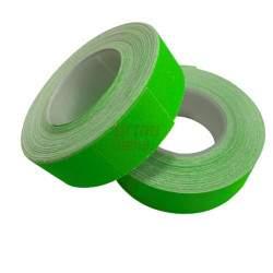 Etiketės dviejų eilučių markiratoriui, žalia