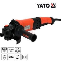 Kampinis šlifuoklis YATO 1400 W 125 mm YT-82099