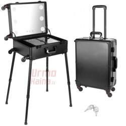 Kosmetikos lagaminas su veidrodžiu ir LED apšvietimu KL10