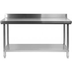 Nerūdijančio plieno stalas su sienele Yato 60x160x85 cm