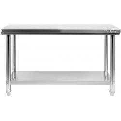 Nerūdijančio plieno stalas 70x160x85 cm