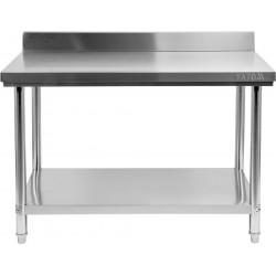 Nerūdijančio plieno stalas su sienele Yato 70x140x85 cm