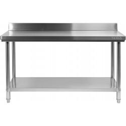 Nerūdijančio plieno stalas su sienele Yato 60x140x85 cm