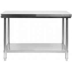 Nerūdijančio plieno stalas Yato 70x120x85 cm