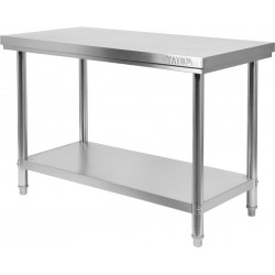Nerūdijančio plieno stalas Yato 60x140x85 cm