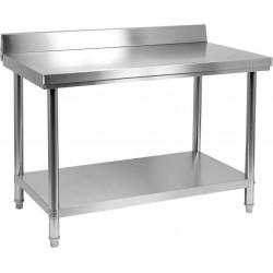 Nerūdijančio plieno stalas su sienele Yato 60x120x85 cm