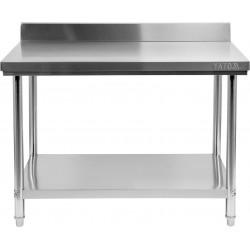 Nerūdijančio plieno stalas su sienele Yato 60x80x85 cm
