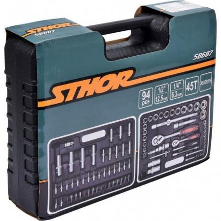 Įrankių galvučių komplektas STHOR 94 dalių