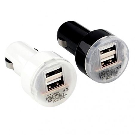 Automobilinis įkroviklis (pakrovėjas) USB 2 jungčių