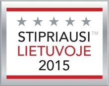 Stipriausi Lietuvoje 2015 m.
